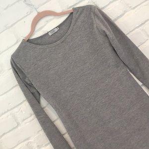 Tobi long sleeve grey dress